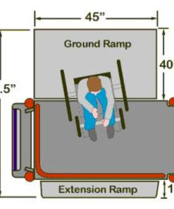 Mobilift CX Portable Wheelchair Lift Top Diagram with Dimensions